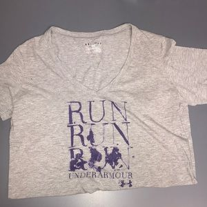 "Under Armour ""Run Run Run"" shirt, new condition"